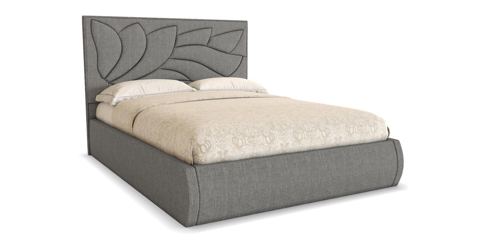 Мягкая кровать 200х140 Диона с ортопедическим основанием (серый)