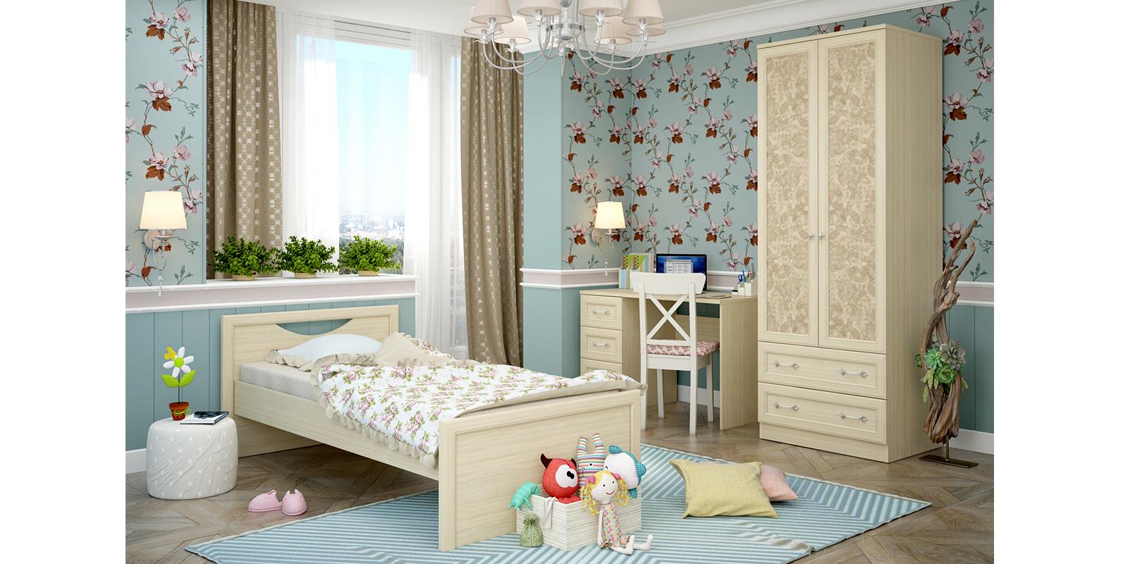Модульная детская Дениз вариант №1 (дуб молочный/мейсен ваниль) от HomeMe.ru