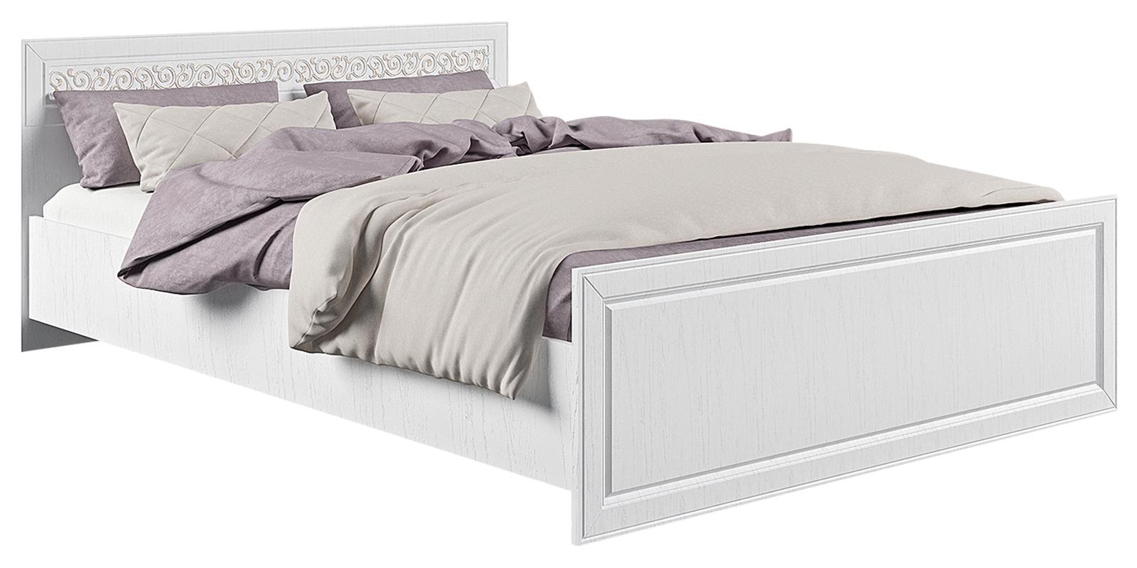 Кровать каркасная 200х140 Диамант без подъемного механизма (белый)
