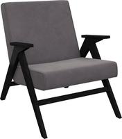 Кресло для отдыха Вест Венге, ткань Verona Antrazite Grey, кант Verona Antrazite Grey