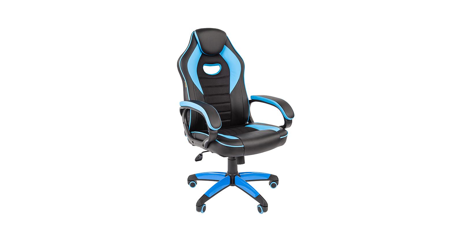 Игровое кресло Chairman game 16 (черный/голубой)