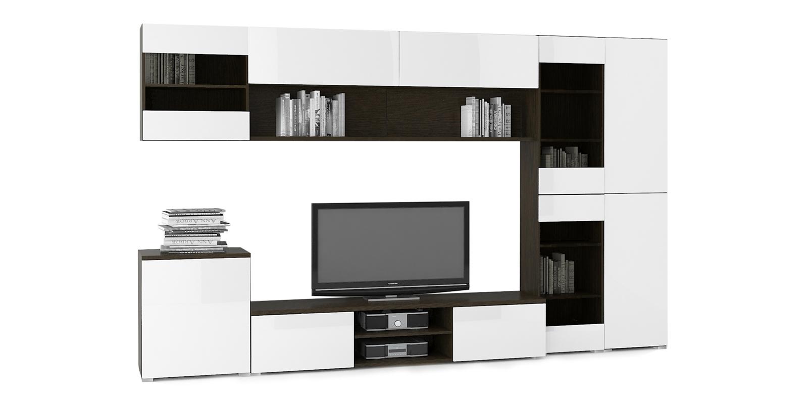 Модульная система Верона вариант №9 (венге/белый глянец) от HomeMe.ru