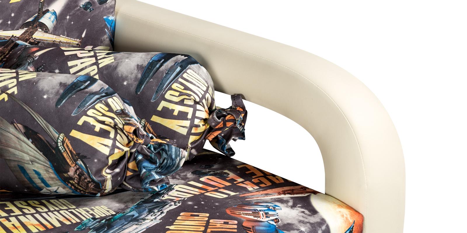 Кресло тканевое Эдем Cosmos (Микровелюр + Экокожа) от HomeMe.ru
