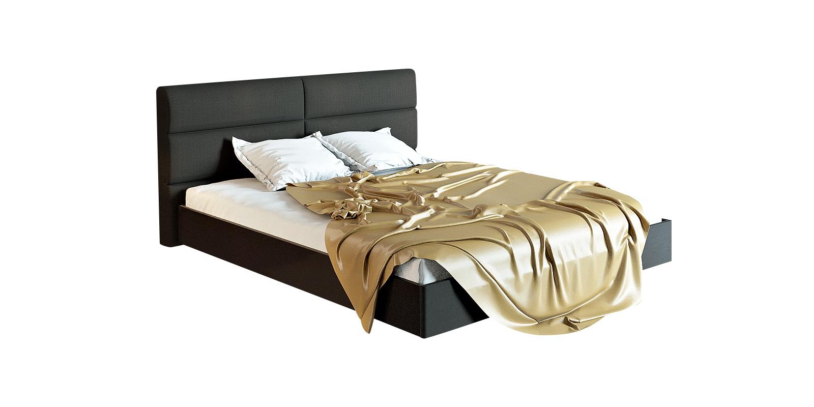 Кровать каркасная 200х160 Сорренто вариант №2 без подъемного механизма (серый/темно-серый)