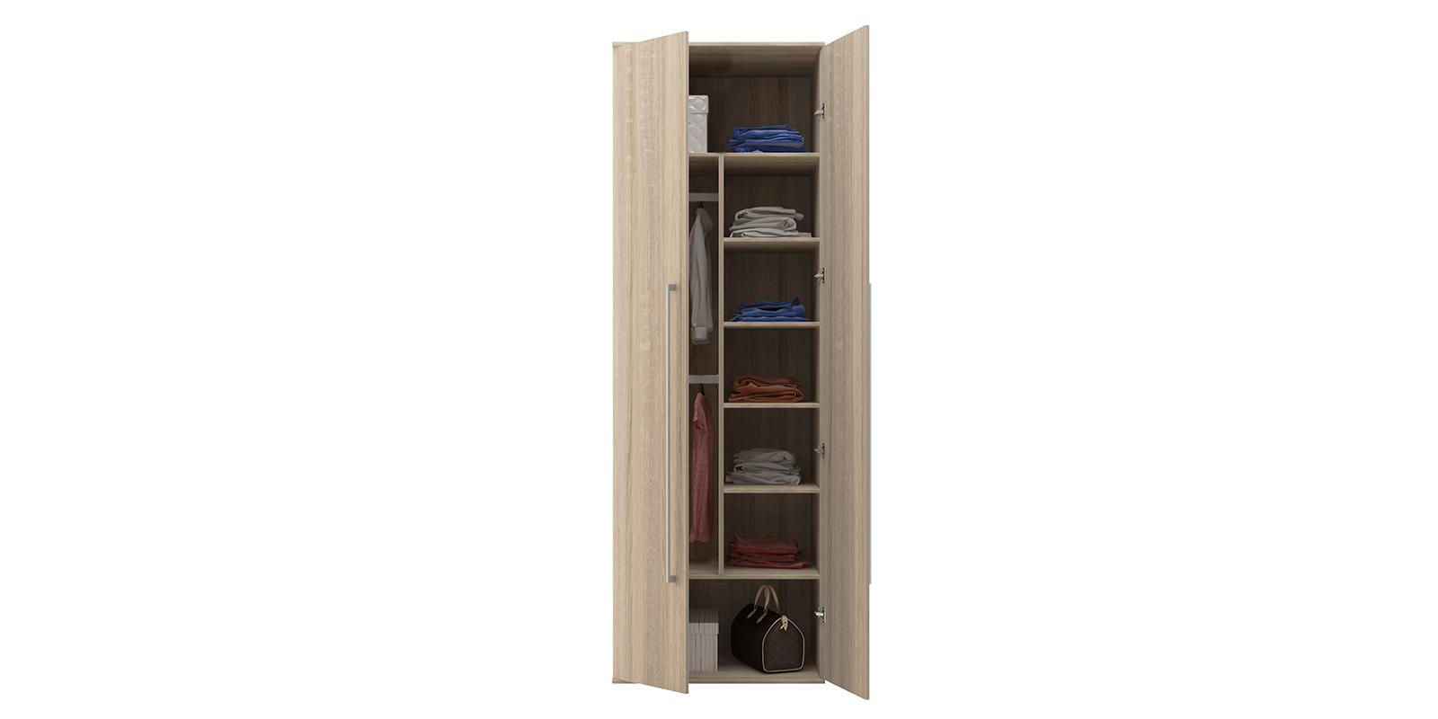 Шкаф распашной двухдверный Бали вариант №2 (дуб сонома) от HomeMe.ru