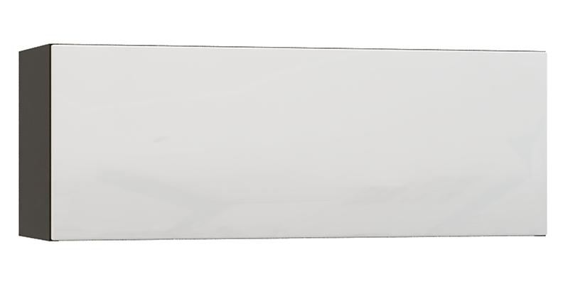 Шкаф навесной Верона 90 см (венге\белый глянец)