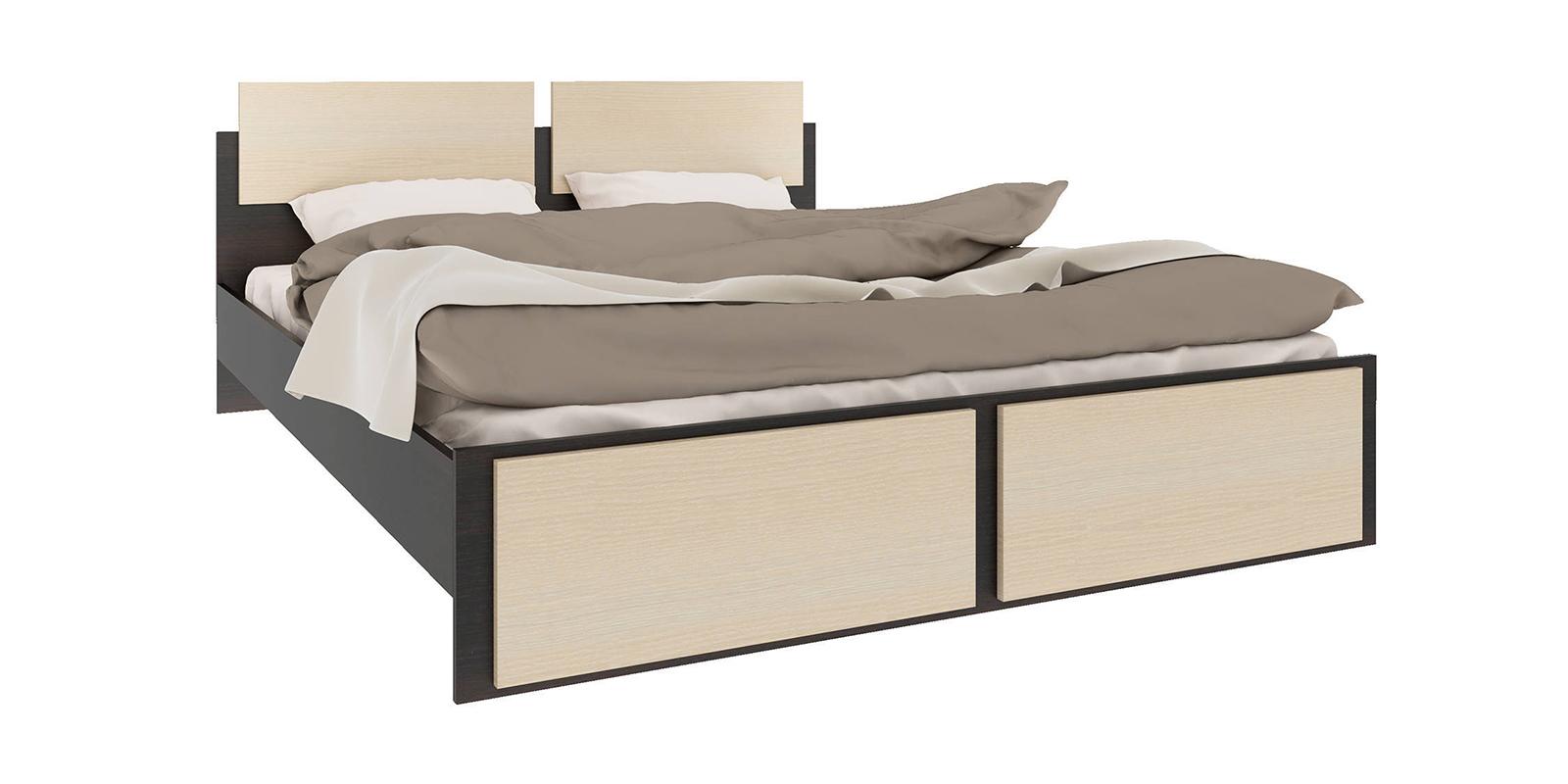 Кровать каркасная 200х160 Родос без подъемного механизма (венге/дуб молочный)