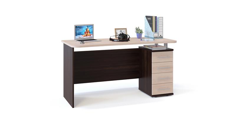 Стол компьютерный Соло (венге/беленый дуб)