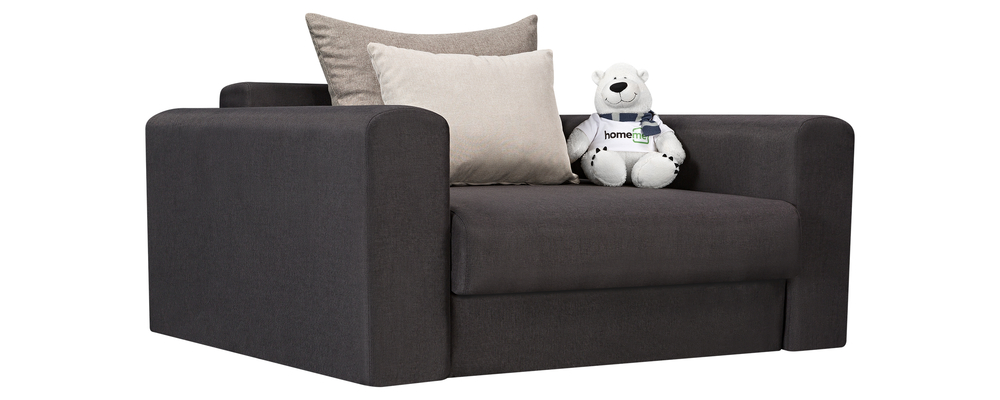 Кресло тканевое Медисон Вариант №1 100 см Kiton тёмно-серый (Рогожка)