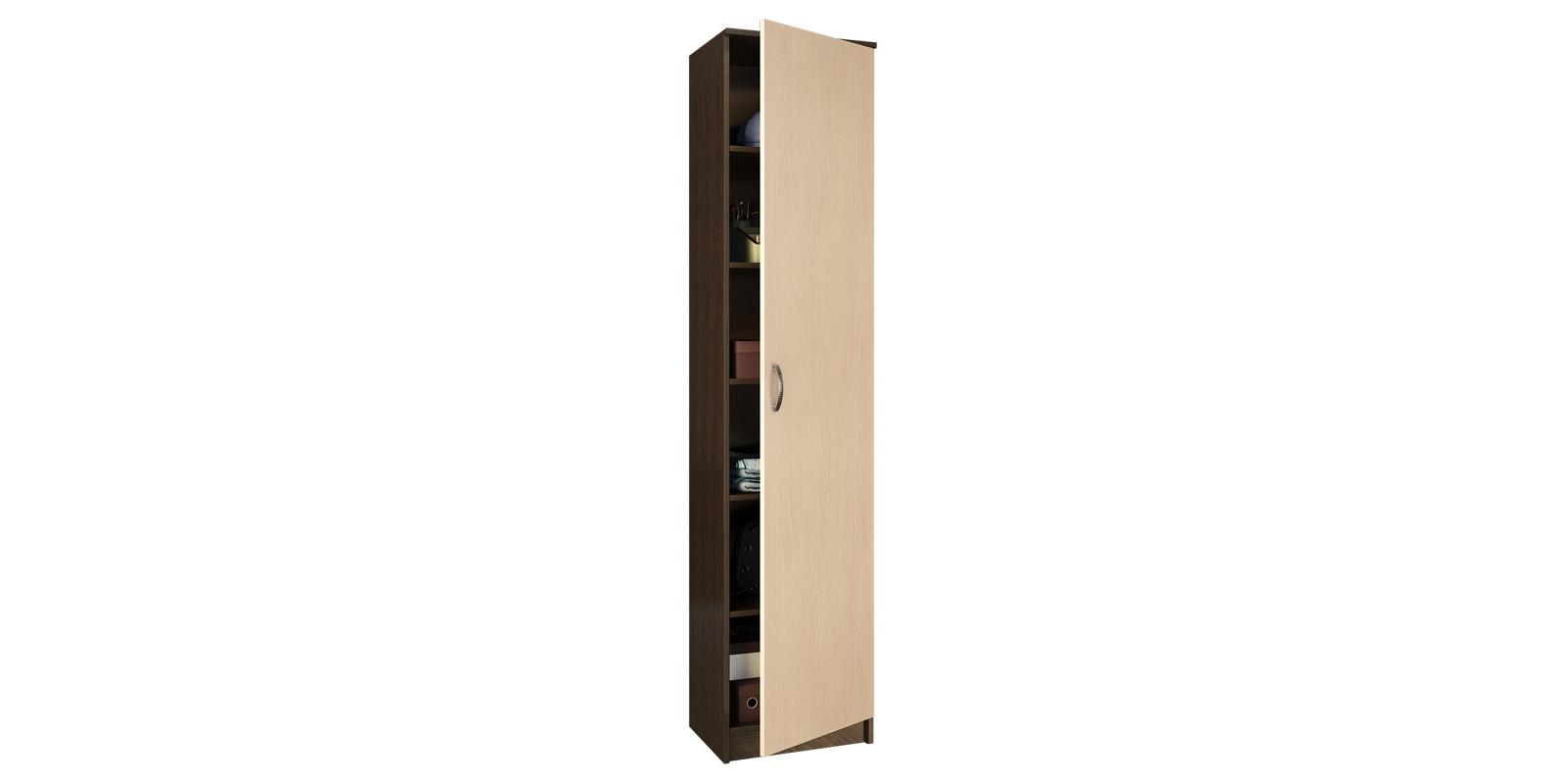 Шкаф распашной однодверный Хельга вариант №1 (венге/дуб молочный)