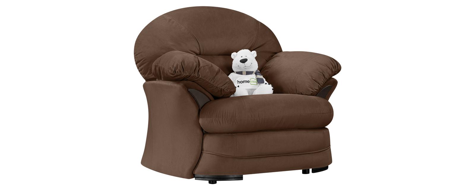 Кресло тканевое Ланкастер Velure темно-коричневый (Велюр) от HomeMe.ru