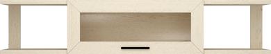 Полка навесная со стеклом 1500 Милан