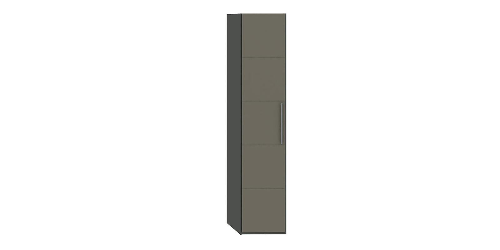 Шкаф распашной однодверный Сорренто торцевой вариант №1 (темно-серый/серый) Сорренто