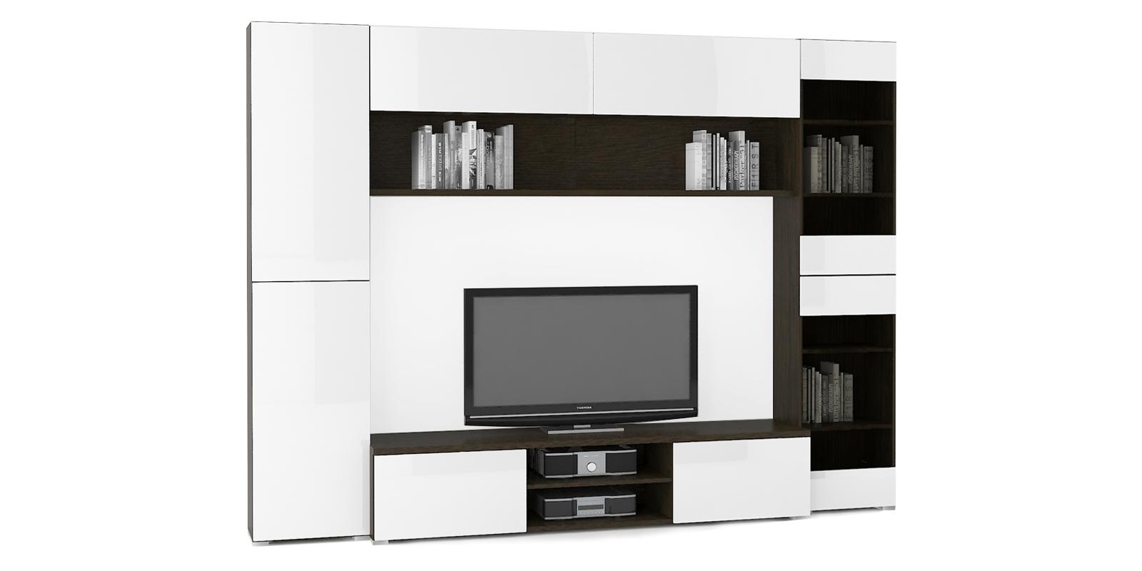 Модульная система Верона вариант №4 (венге/белый глянец) от HomeMe.ru
