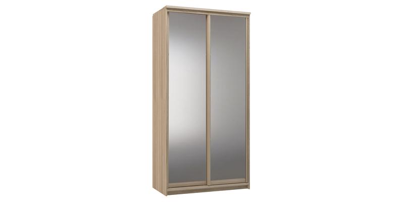 Шкаф-купе двухдверный Верона 120 см (дуб сонома/зеркальный)