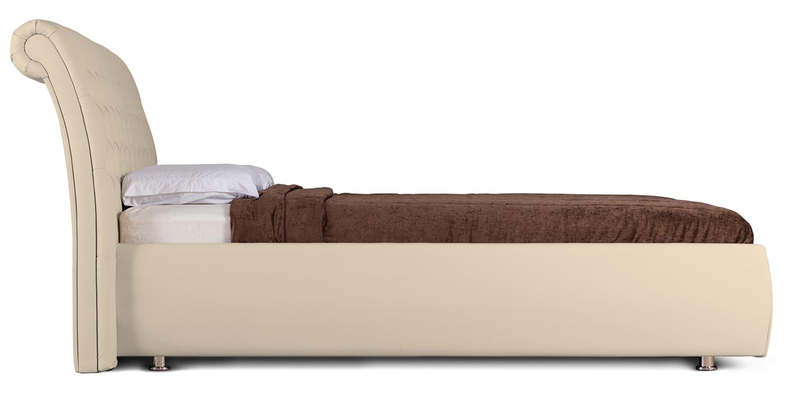Мягкая кровать 200х160 Малибу вариант №6 с подъемным механизмом (Бежевый)