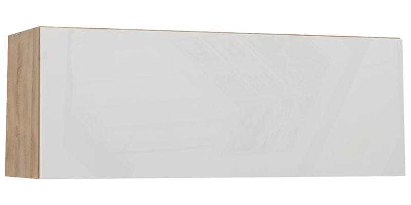 Шкаф навесной Верона (дуб сонома/белый глянец)