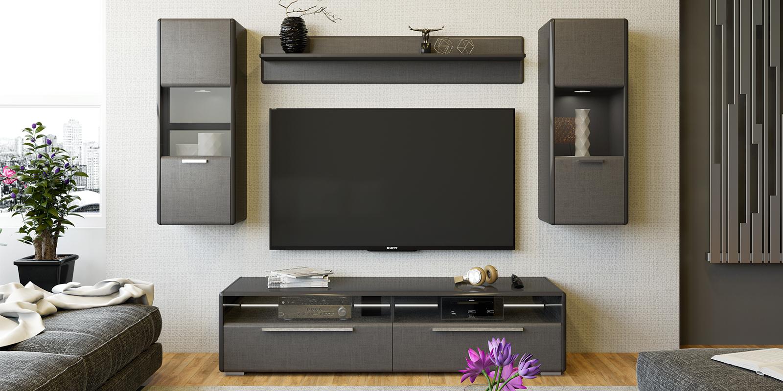 Модульная система Сорренто вариант №1 (серый/коричневый) от HomeMe.ru