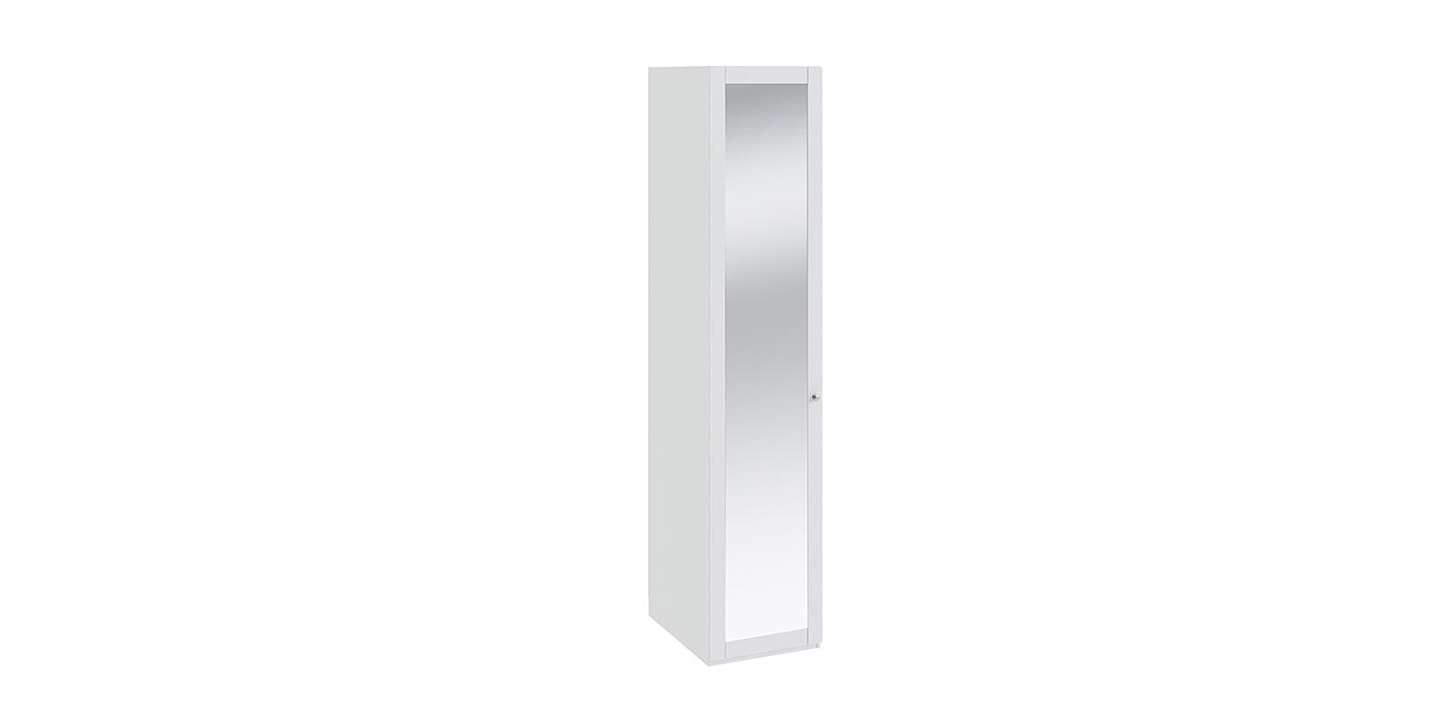 Шкаф распашной однодверный Мерида вариант №4 (белый/зеркало)