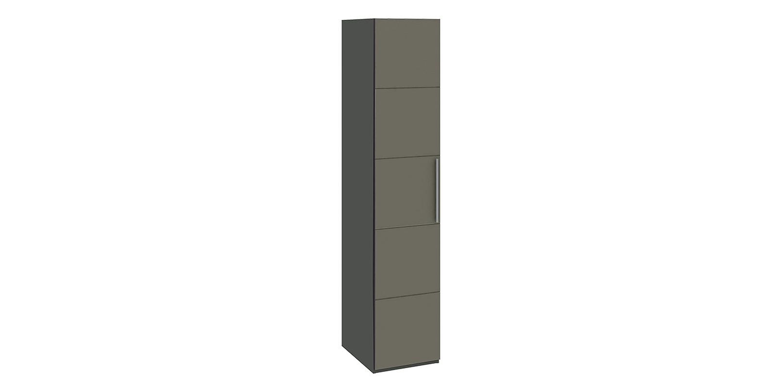 Шкаф распашной однодверный Сорренто вариант №2 (серый/коричневый)