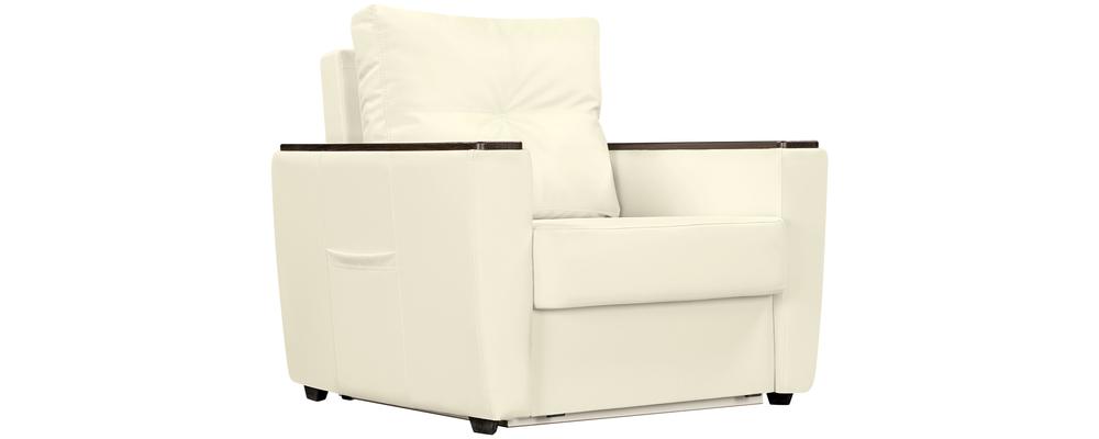 Кресло тканевое Майами Luxe молочный (Экокожа)