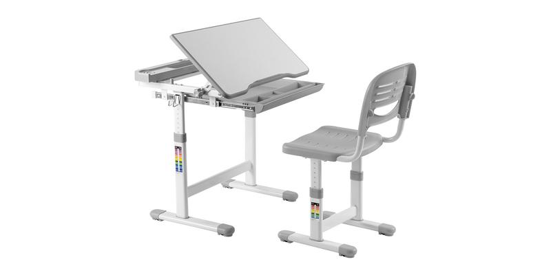 Детская парта Cantare комплект парта + стул (белый/серый)