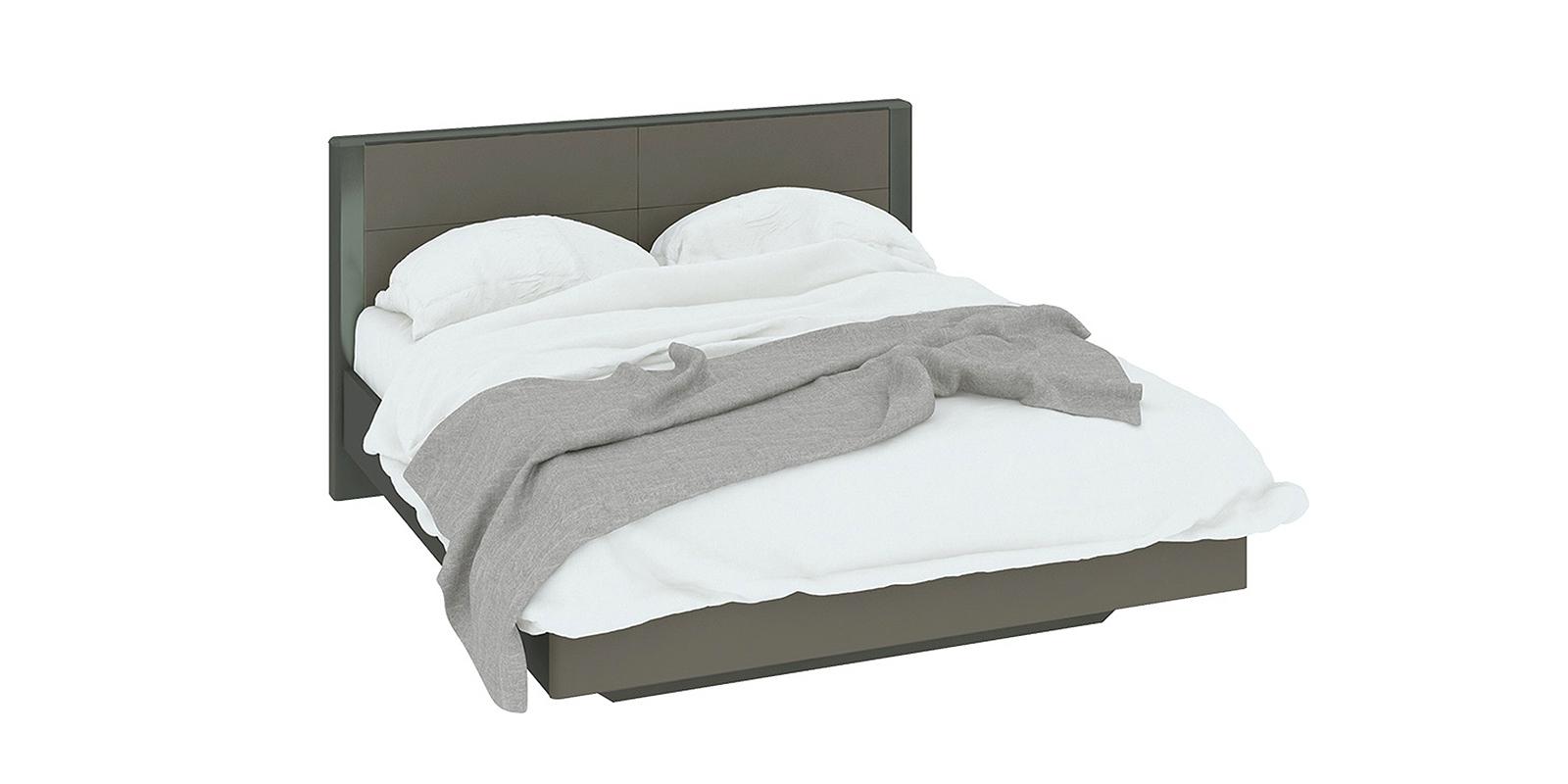 Кровать каркасная 200х160 Сорренто вариант №1 без подъемного механизма (темно-серый/серый)