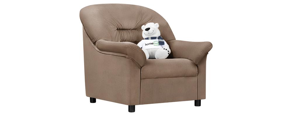 Кресло тканевое Женева Velure коричневый (Велюр)