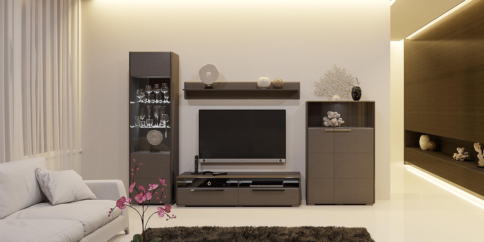 Модульная система Сорренто вариант №3 (серый/коричневый) от HomeMe.ru
