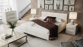 Кровать «Элис» c мягкой обивкой тип 1