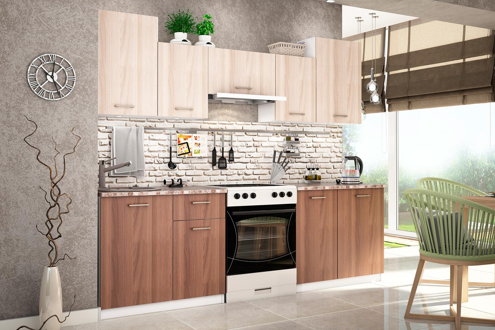Светлый или темный кухонный гарнитур маленькая кухонные гарнитуры дуб