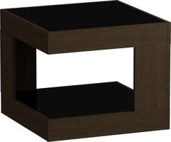 Стол журнальный LS 746 02.01 (корпус-венге,стекло-черный)