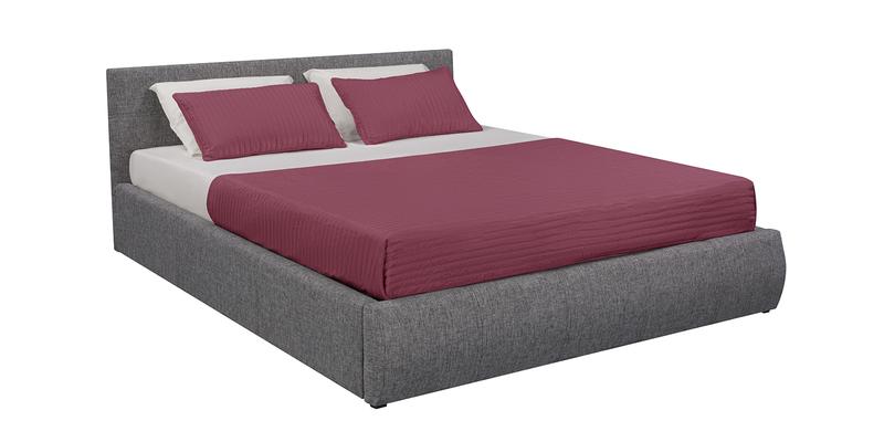 Мягкая кровать 200х160 Афина с подъемным механизмом (Madagascar серый)