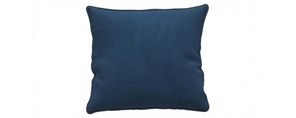 Декоративная подушка Портленд 41х41 см Soft тёмно-синий (Вел-флок)