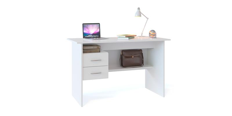 Стол компьютерный Сноу вариант №1 (белый)