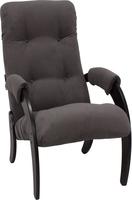 Кресло для отдыха Модель 61 Венге, ткань Verona Antrazite Grey