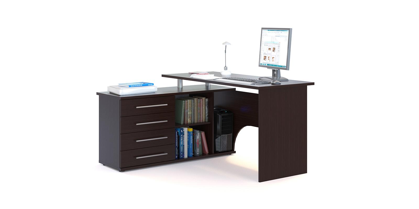 Стол компьютерный HomeMe Сноу компьютерный стол недорого в москве стеклянный