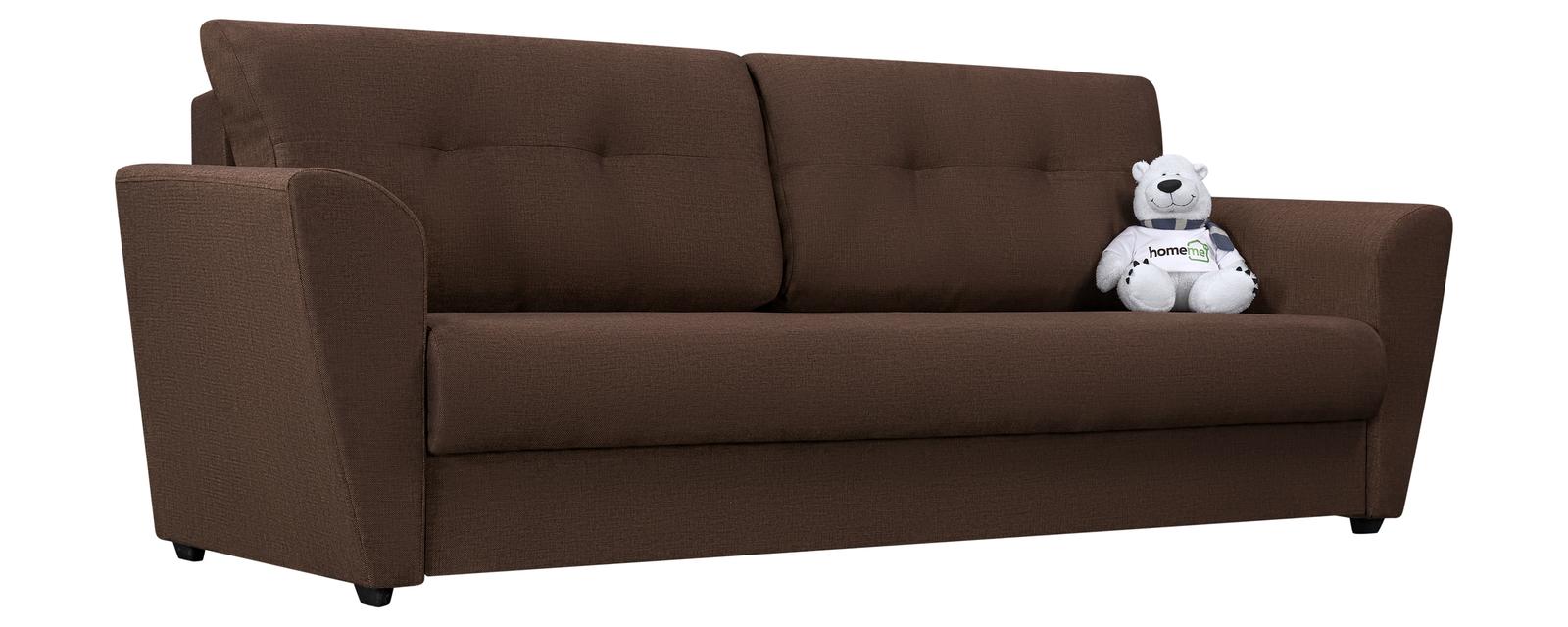 Диван тканевый прямой Амстердам Madagascar коричневый (Рогожка)