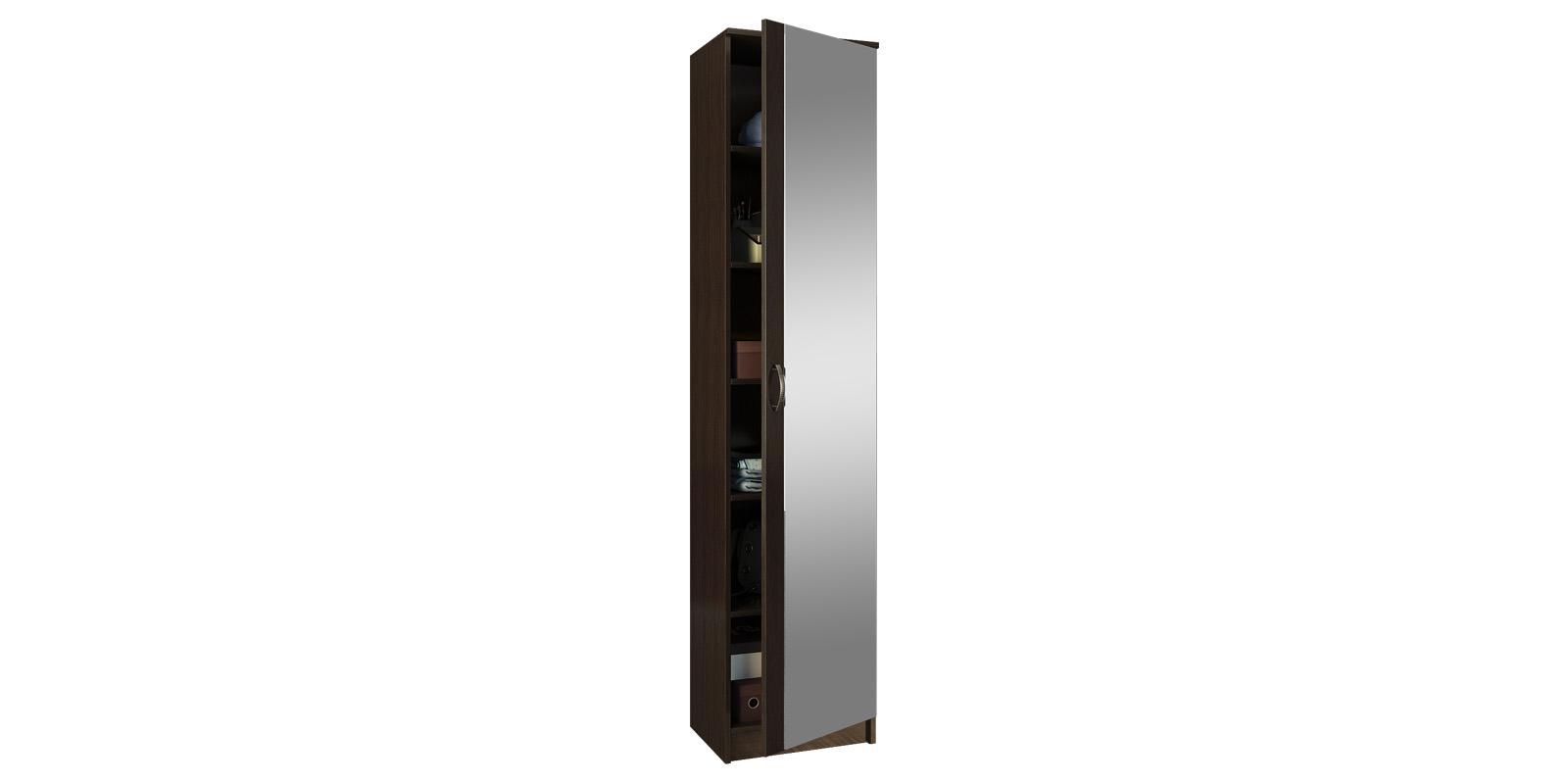 Шкаф распашной однодверный Хельга вариант №2 (венге)