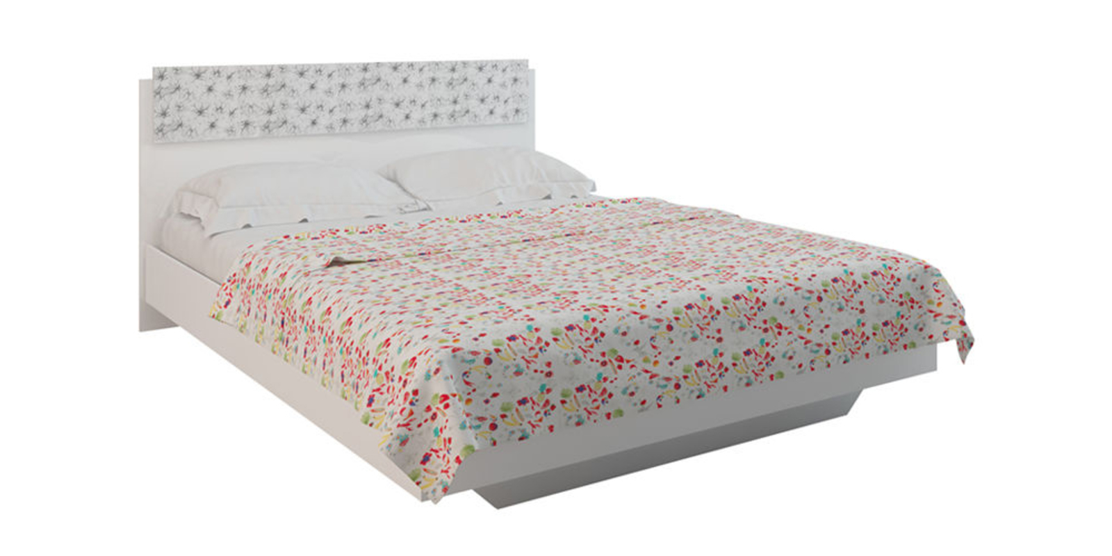 Кровать каркасная Давос без подъемного механизма (Белый)