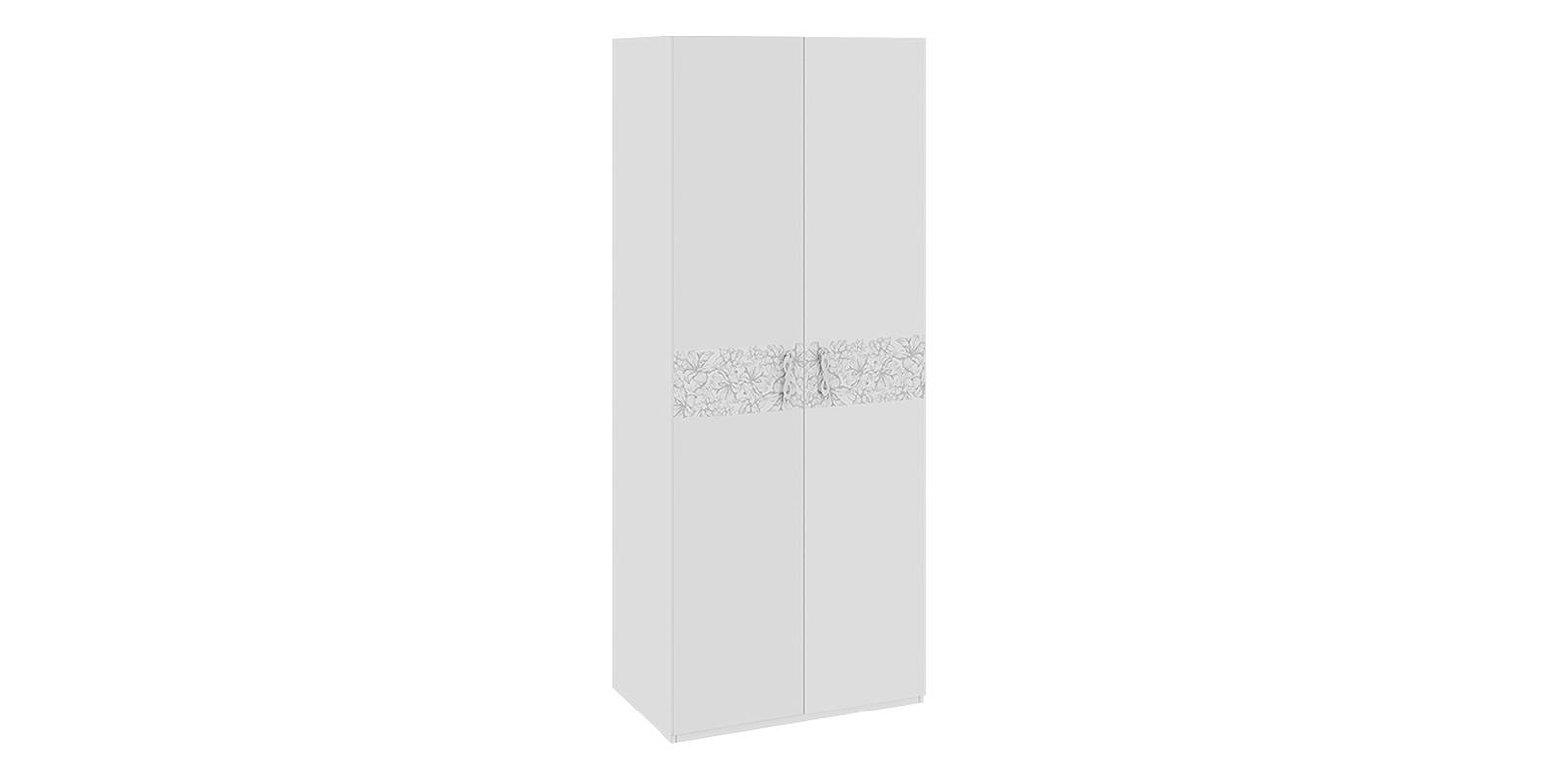 Шкаф распашной двухдверный Давос (белый матовый)