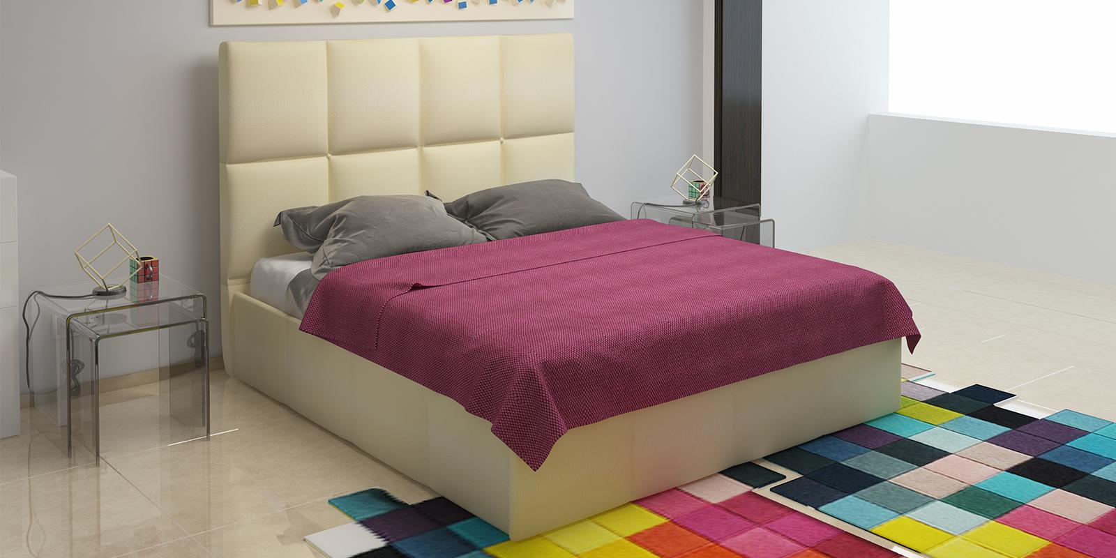 Мягкая кровать 200х160 Сицилия с подъемным механизмом (Перламутр) Сицилия