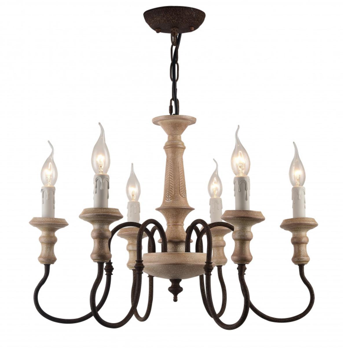 Купить Подвесная люстра Woodstock Подвесная люстра ARTE Lamp A1700LM-6BR (13775), HomeMe