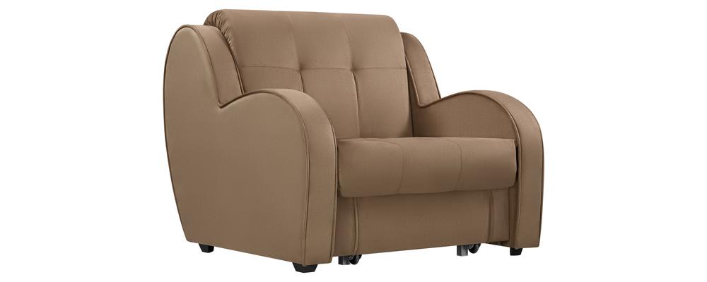 Кресло тканевое Барон Velure коричневый (Велюр)
