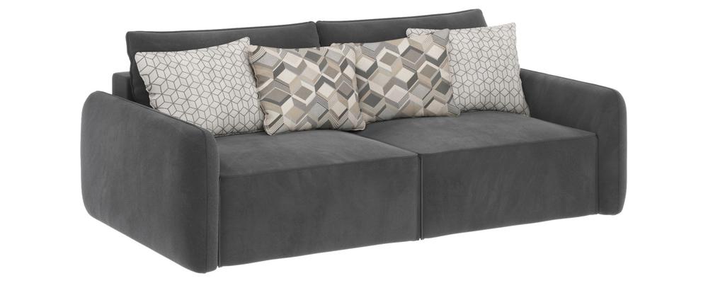 Модульный диван Портленд вариант №7 Premier серый (Микровелюр)