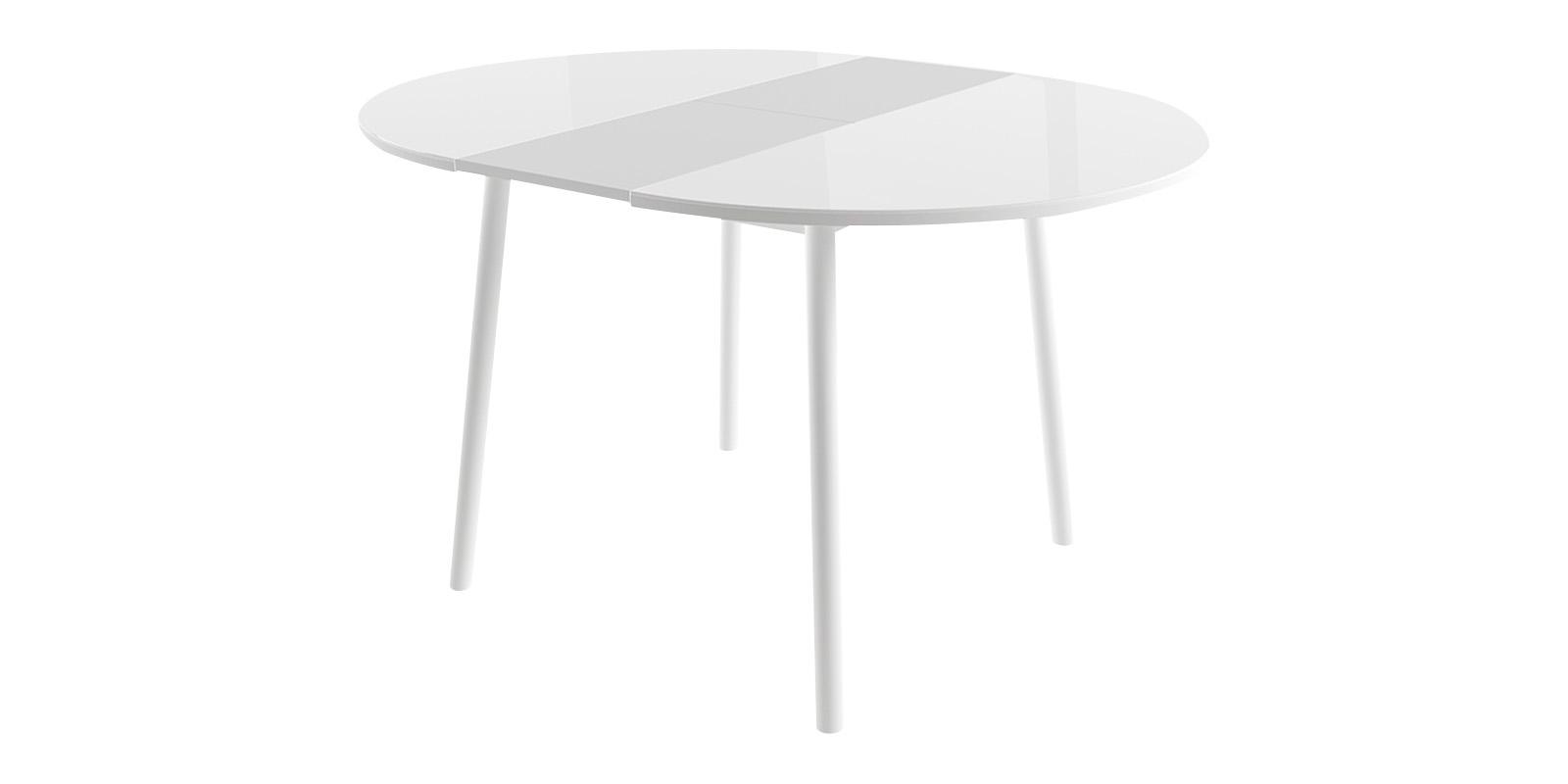 Обеденный стол Раунд (белый) круглый