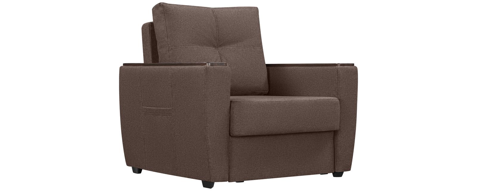 Кресло тканевое Майами Madagascar коричневый (Рогожка)