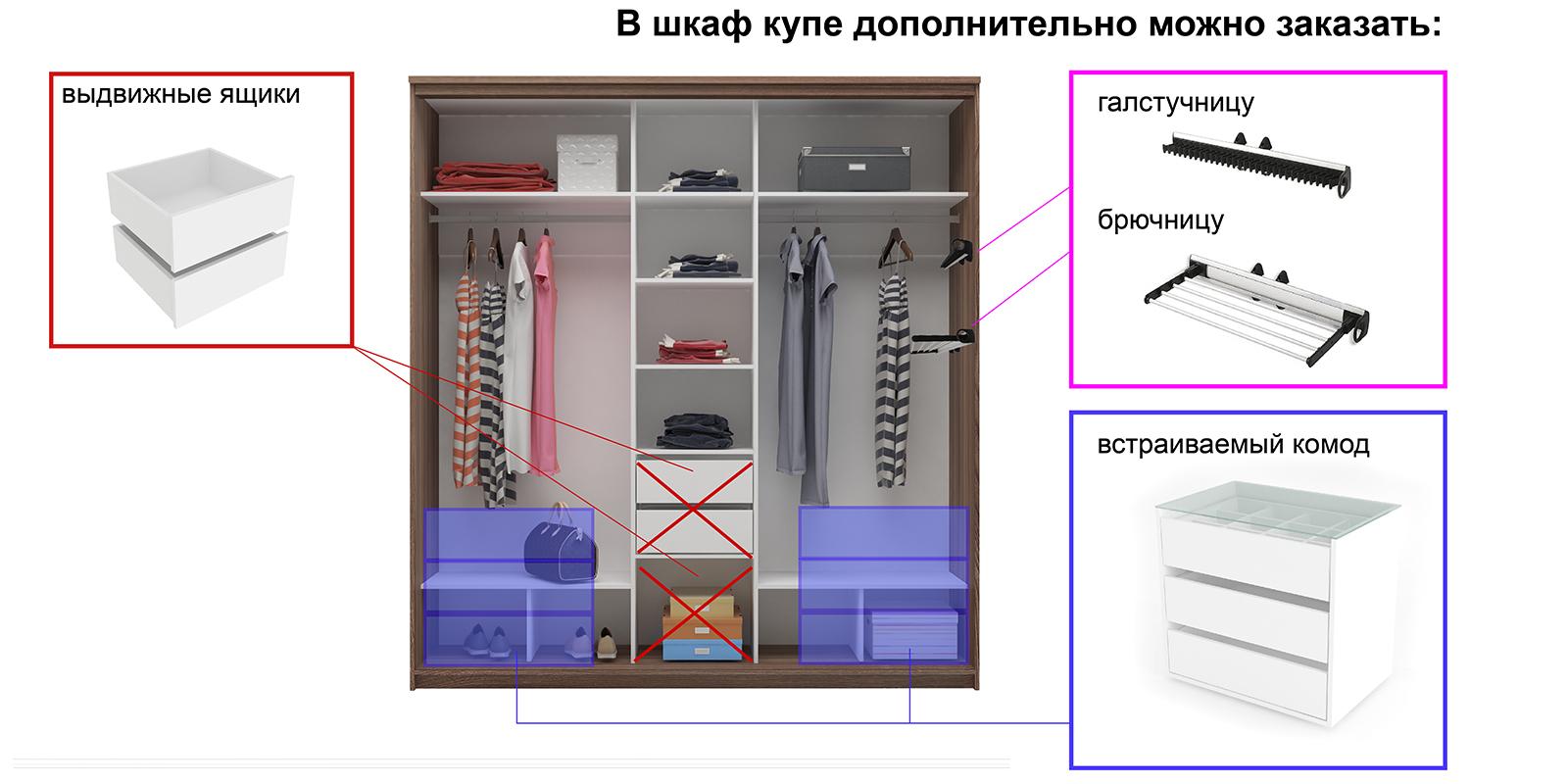 Шкаф-купе трехдверный Верона 223 см (ясень шимо/зеркало) от HomeMe.ru