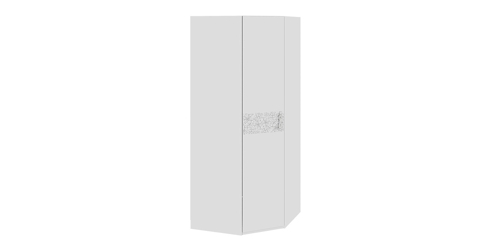 Шкаф распашной угловой Давос (белый матовый)