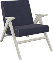 Кресло для отдыха Вест Дуб шампань, ткань Verona Denim Blue, кант Verona Antrazite Grey